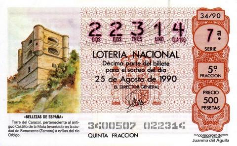 Décimo de Lotería 1990 / 34