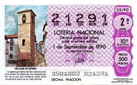 Décimo de Lotería 1990 / 35
