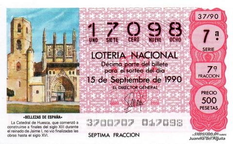 Décimo de Lotería 1990 / 37