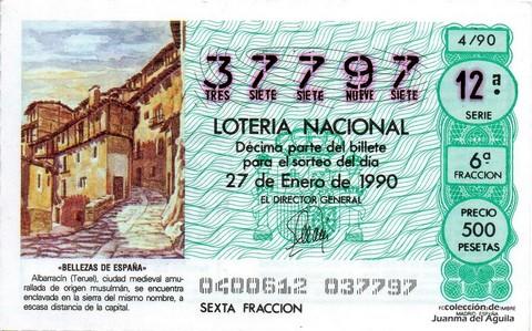 Décimo de Lotería 1990 / 4