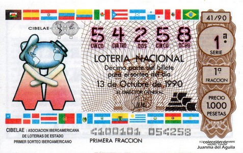 Décimo de Lotería 1990 / 41