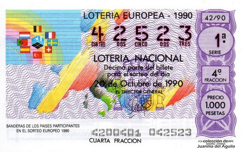 Décimo de Lotería 1990 / 42