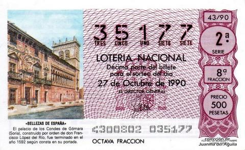 Décimo de Lotería 1990 / 43