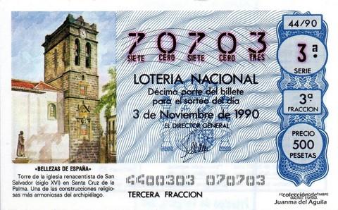 Décimo de Lotería 1990 / 44