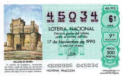 Décimo de Lotería 1990 / 46