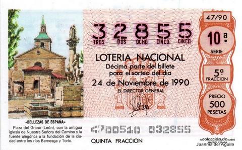 Décimo de Lotería 1990 / 47
