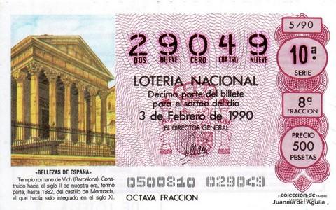 Décimo de Lotería 1990 / 5