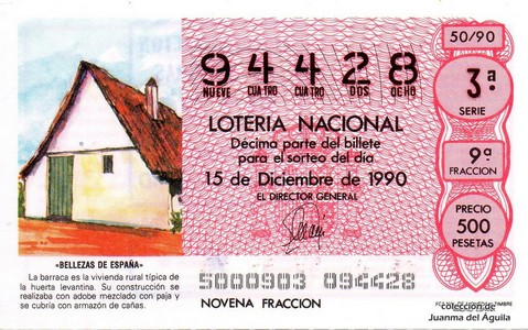 Décimo de Lotería 1990 / 50
