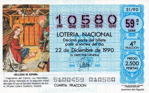 Décimo de Lotería 1990 / 51