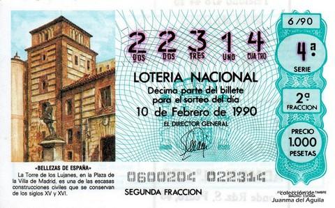 Décimo de Lotería 1990 / 6