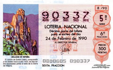 Décimo de Lotería 1990 / 8