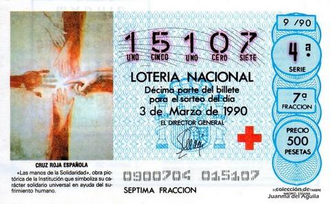 Décimo de Lotería 1990 / 9