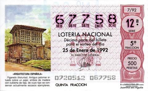 Décimo de Lotería 1992 / 7