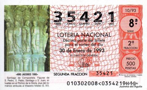 Décimo de Lotería 1993 / 10