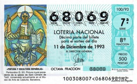 Décimo de Lotería 1993 / 100