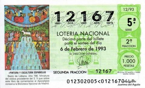 Décimo de Lotería 1993 / 12