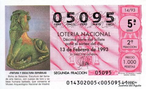 Décimo de Lotería 1993 / 14