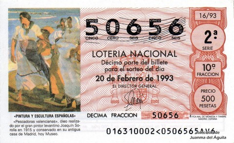 Décimo de Lotería 1993 / 16