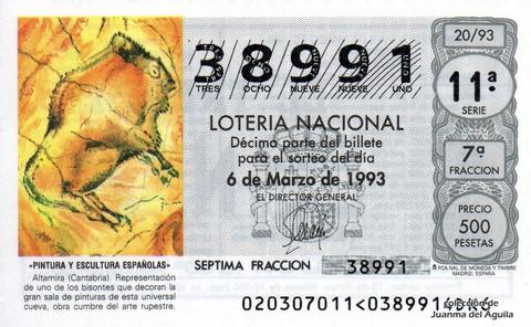Décimo de Lotería 1993 / 20