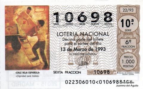 Décimo de Lotería 1993 / 22