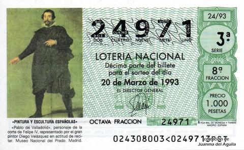 Décimo de Lotería 1993 / 24