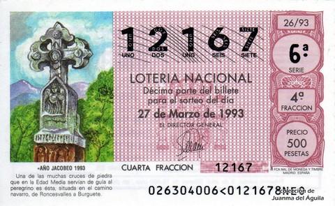 Décimo de Lotería 1993 / 26