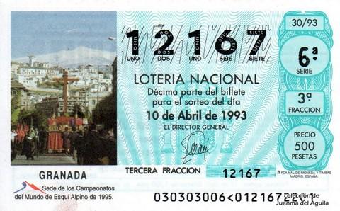 Décimo de Lotería 1993 / 30