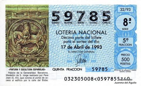 Décimo de Lotería 1993 / 32