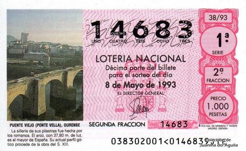 Décimo de Lotería 1993 / 38