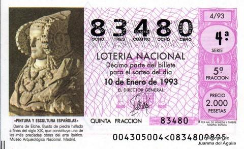 Décimo de Lotería 1993 / 4
