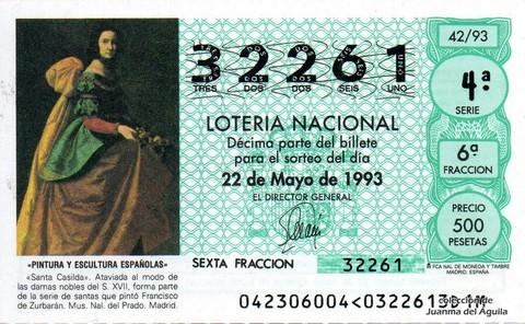 Décimo de Lotería 1993 / 42