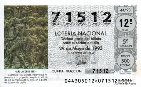 Décimo de Lotería 1993 / 44