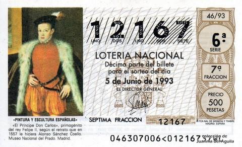 Décimo de Lotería 1993 / 46
