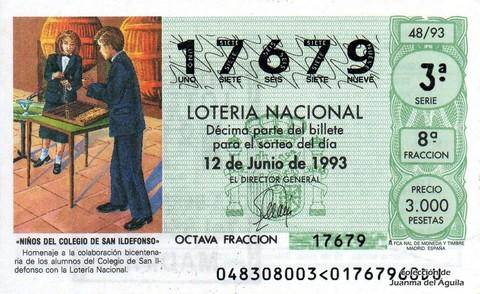 Décimo de Lotería 1993 / 48