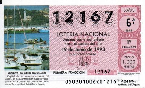 Décimo de Lotería 1993 / 50