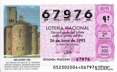 Décimo de Lotería 1993 / 52