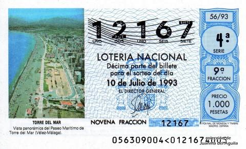 Décimo de Lotería 1993 / 56