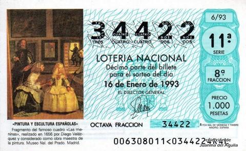 Décimo de Lotería 1993 / 6