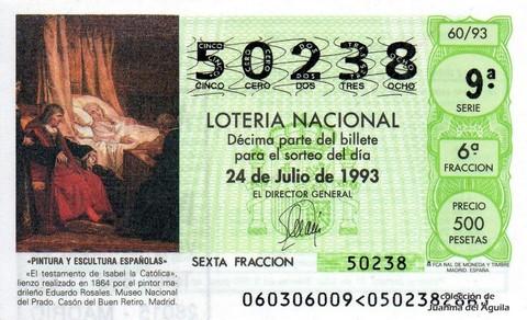 Décimo de Lotería 1993 / 60