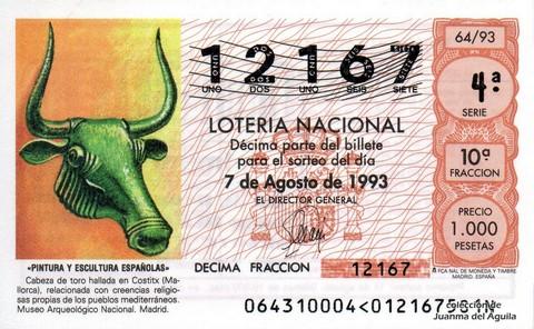 Décimo de Lotería 1993 / 64