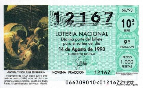 Décimo de Lotería 1993 / 66