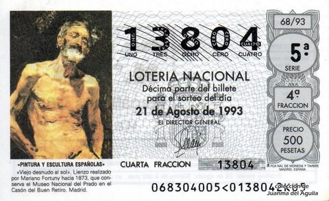 Décimo de Lotería 1993 / 68