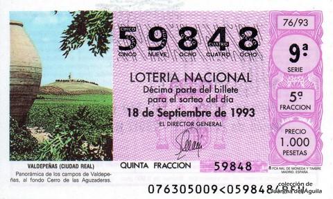 Décimo de Lotería 1993 / 76