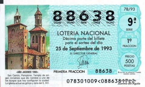 Décimo de Lotería 1993 / 78