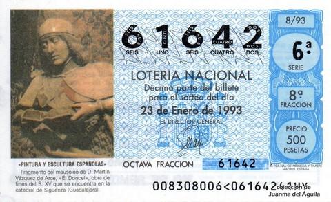 Décimo de Lotería 1993 / 8