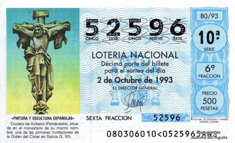 Décimo de Lotería 1993 / 80