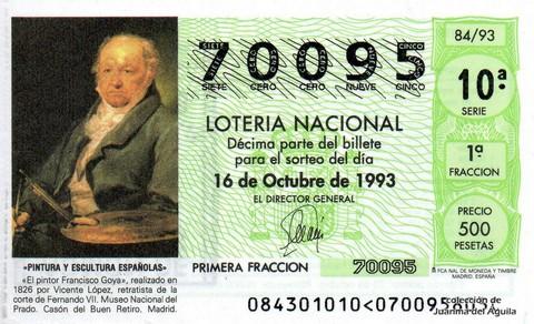 Décimo de Lotería 1993 / 84