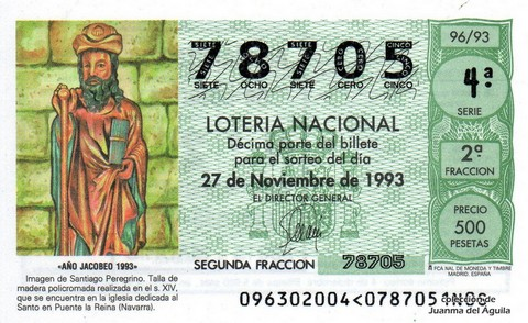 Décimo de Lotería 1993 / 96