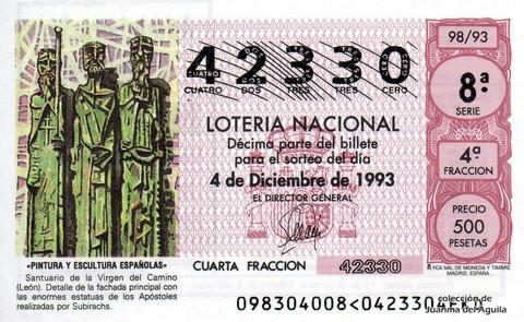 Décimo de Lotería 1993 / 98