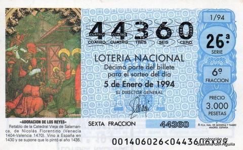 Décimo de Lotería 1994 / 1